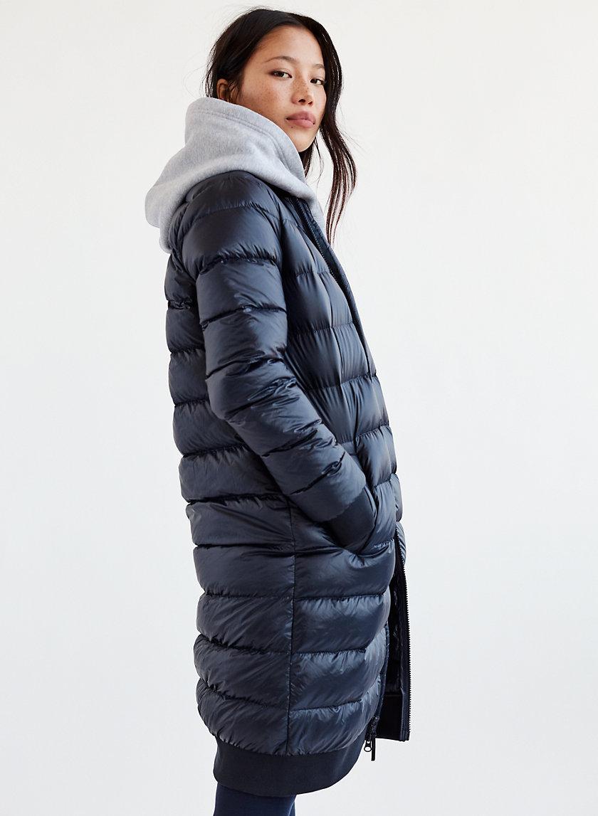 CHALET PUFFER LONG - Bomber puffer jacket