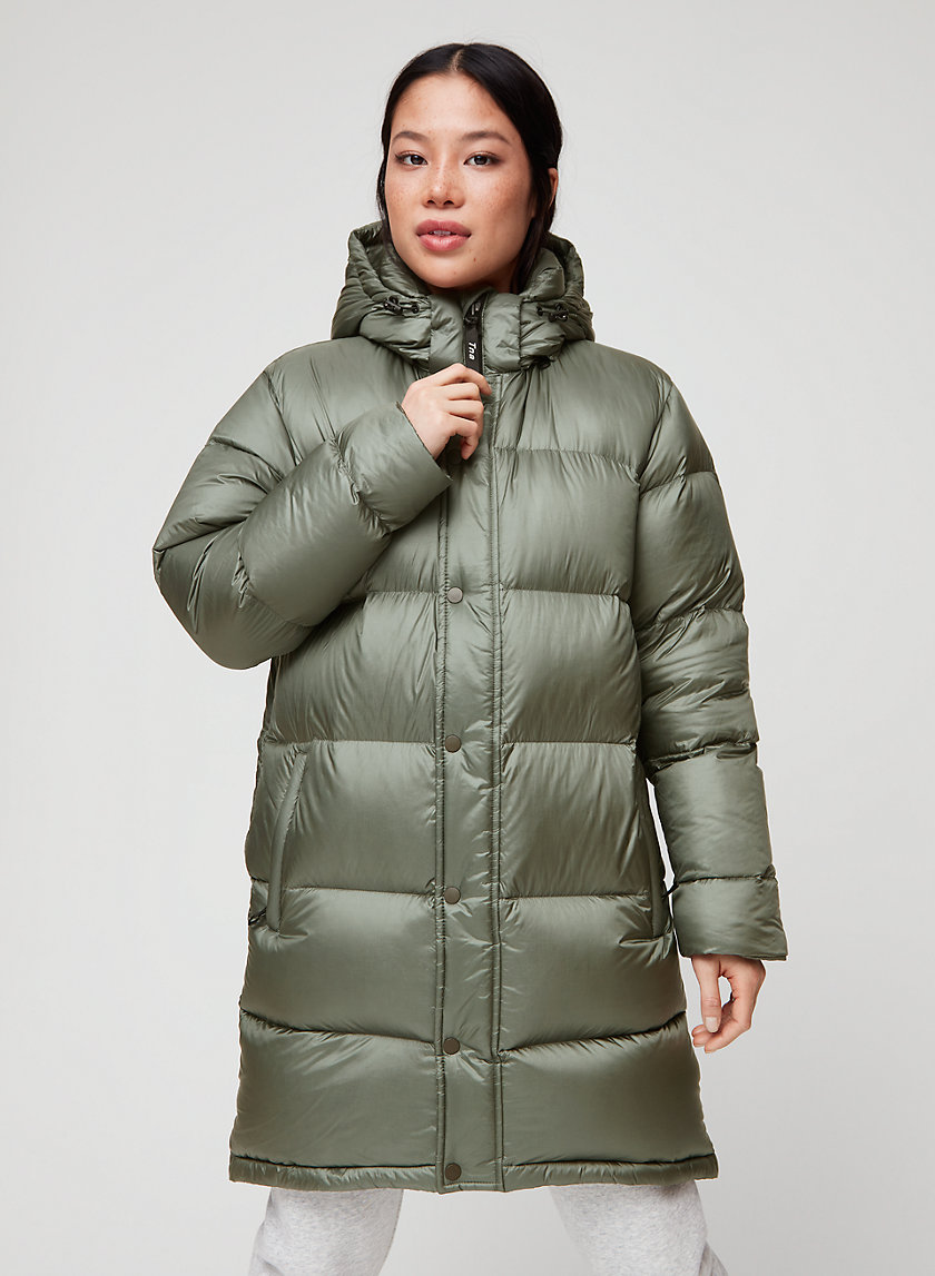THE SUPER PUFF™ MID - Goose-down, mid-length puffer jacket