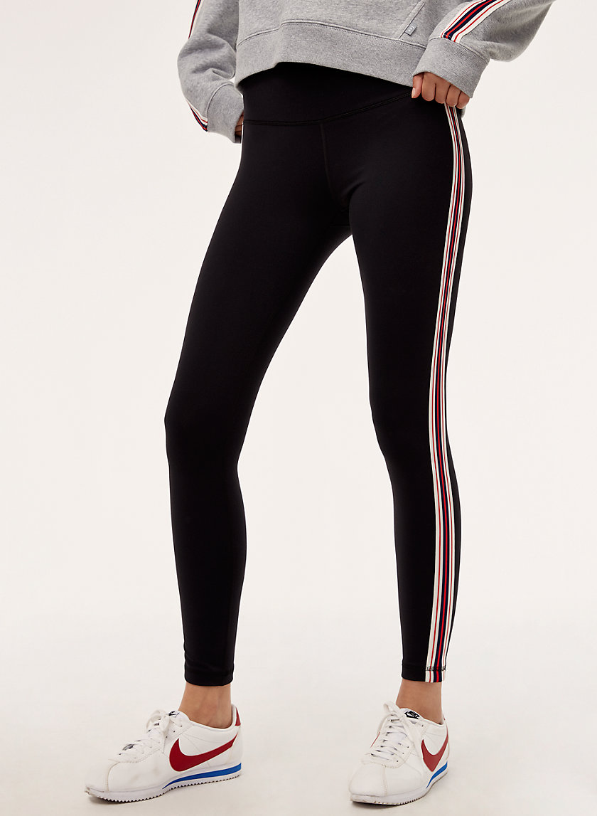 ATMOSPHERE LEGGING - High-waisted legging with side stripe