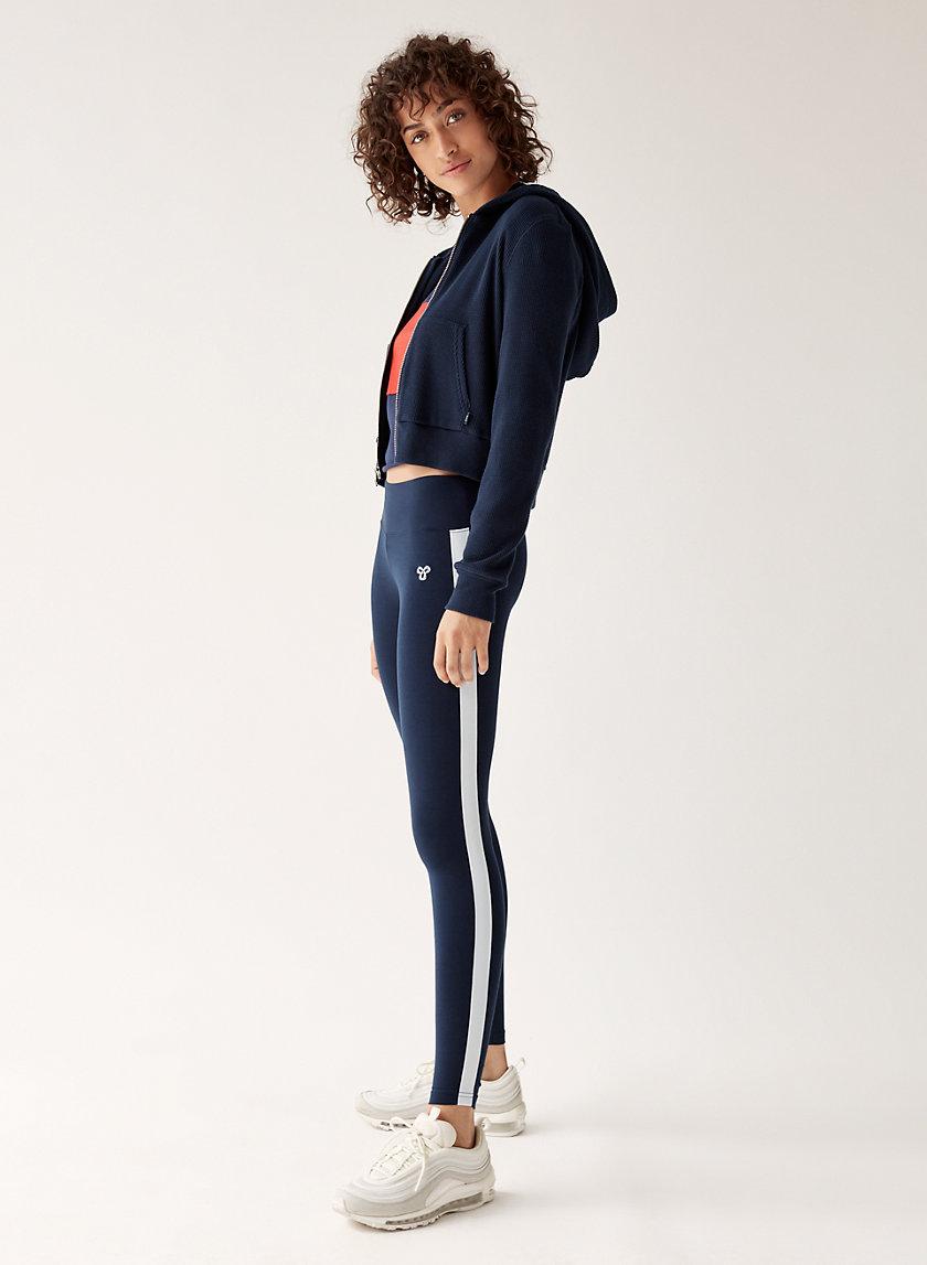 EQUATOR LEGGING - Mid-rise leggings with side stripe