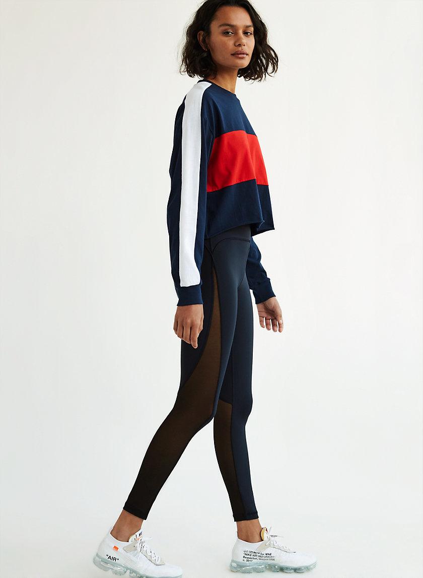 MOMENTUM PANT - High-waisted, mesh workout legging