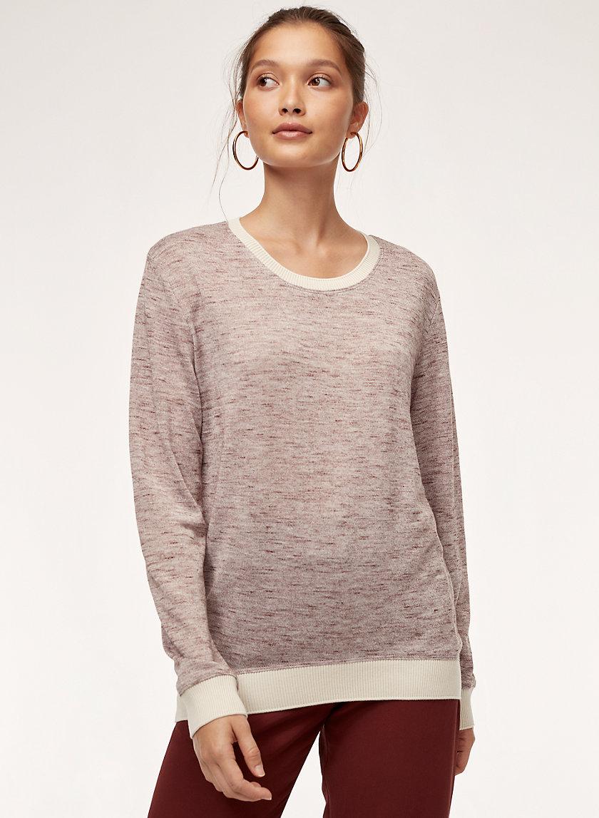 BERRI T-SHIRT - Long-sleeve marled t-shirt