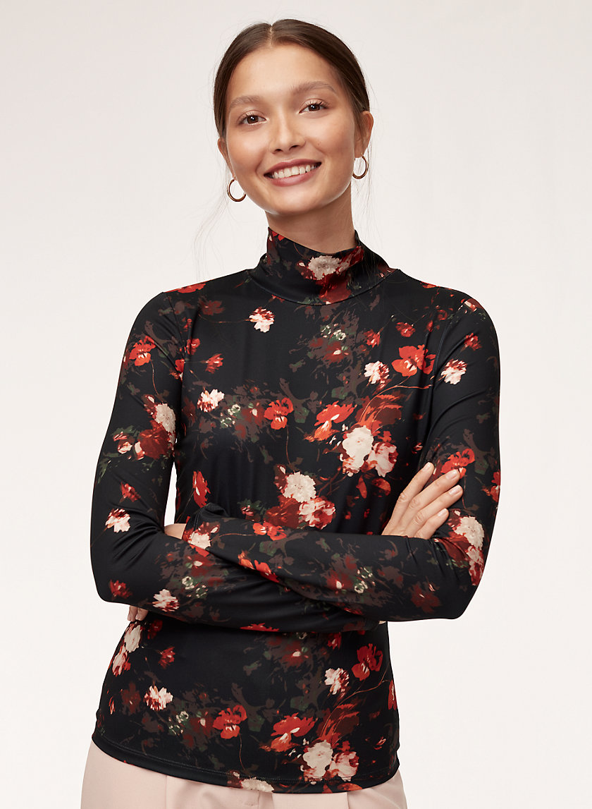 CHEVAL TURTLENECK - Floral turtleneck shirt
