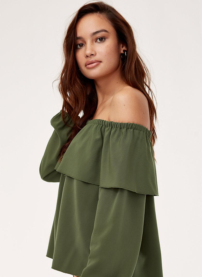 MOREL BLOUSE - Long-sleeve, off-the-shoulder blouse