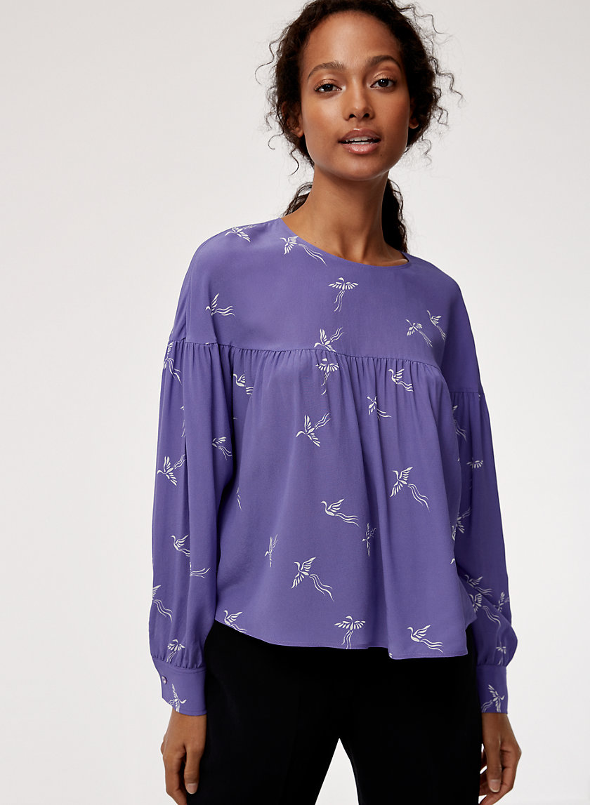 ELISA BLOUSE - Long-sleeve silk blouse