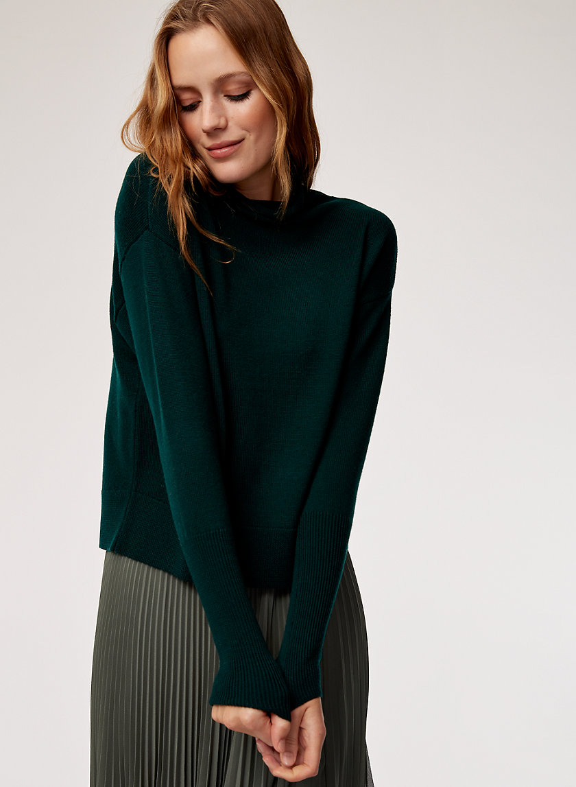 CYPRIE SWEATER - Merino-wool mock-neck sweater