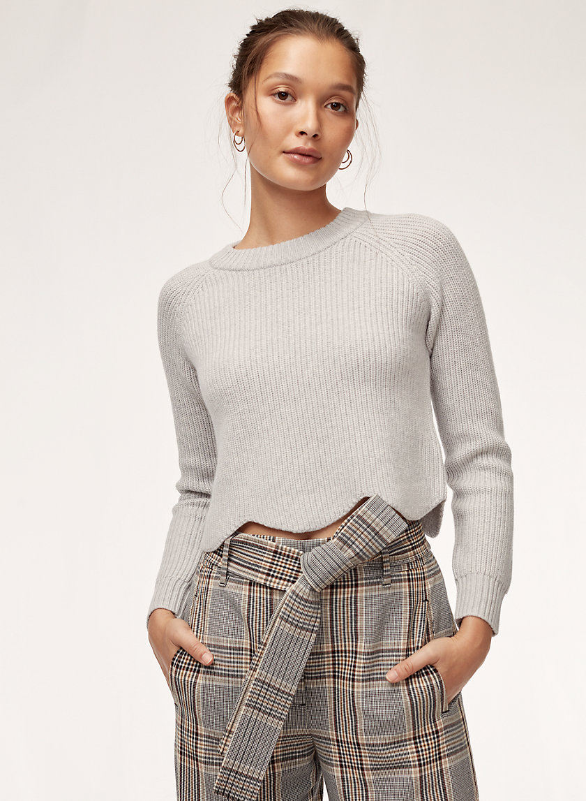 SARDOU SWEATER - Cropped, scalloped crewneck sweater
