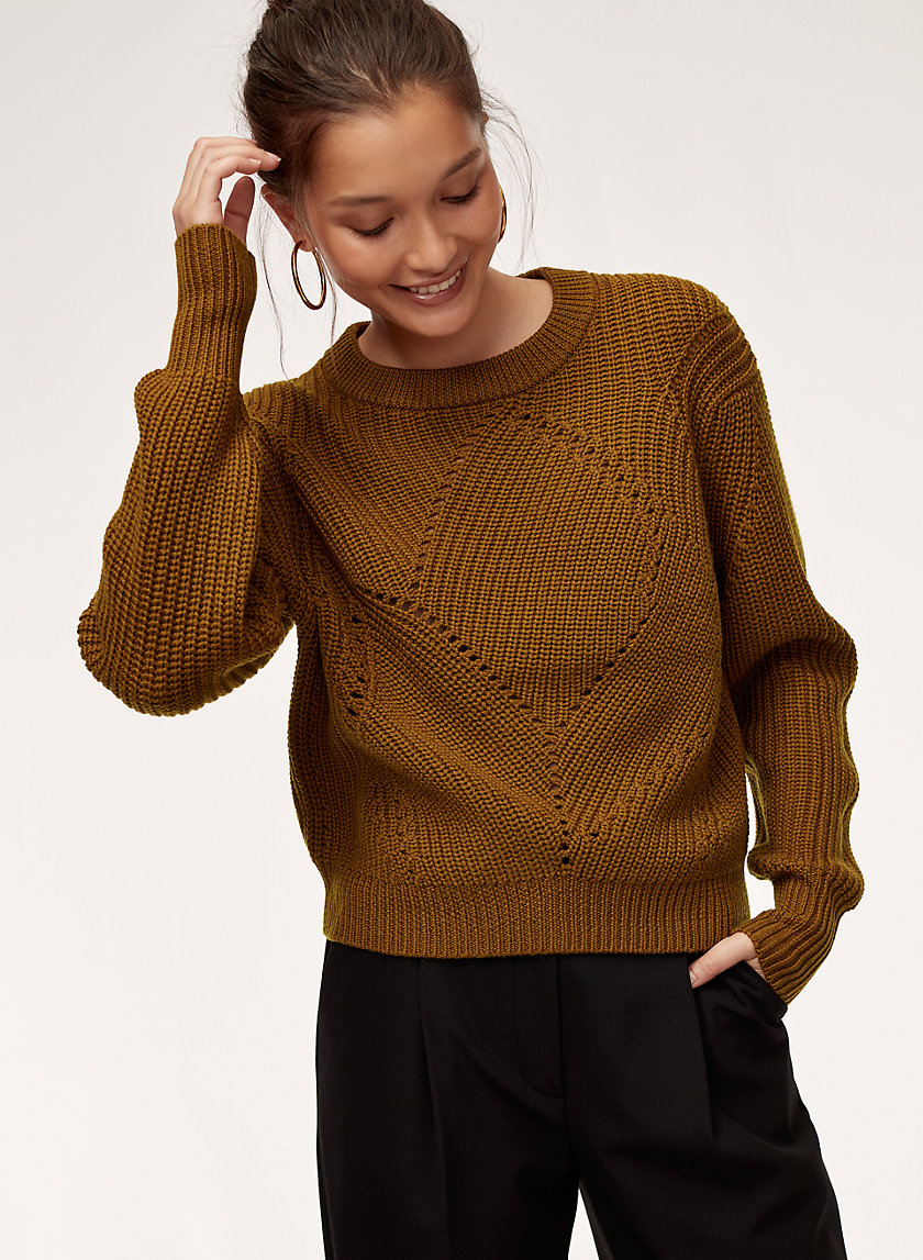 SERMENT SWEATER - Oversized, merino-wool crewneck sweater