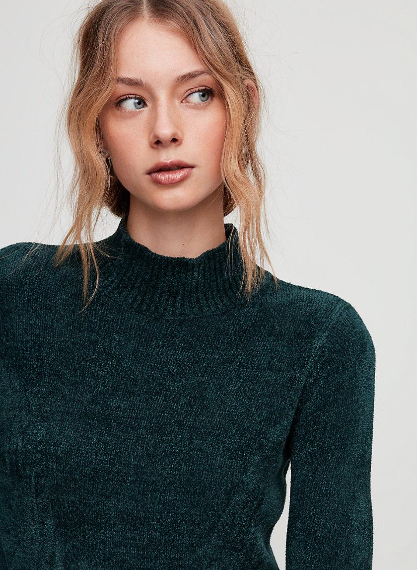CORTETA SWEATER - Lightweight mock-neck sweater