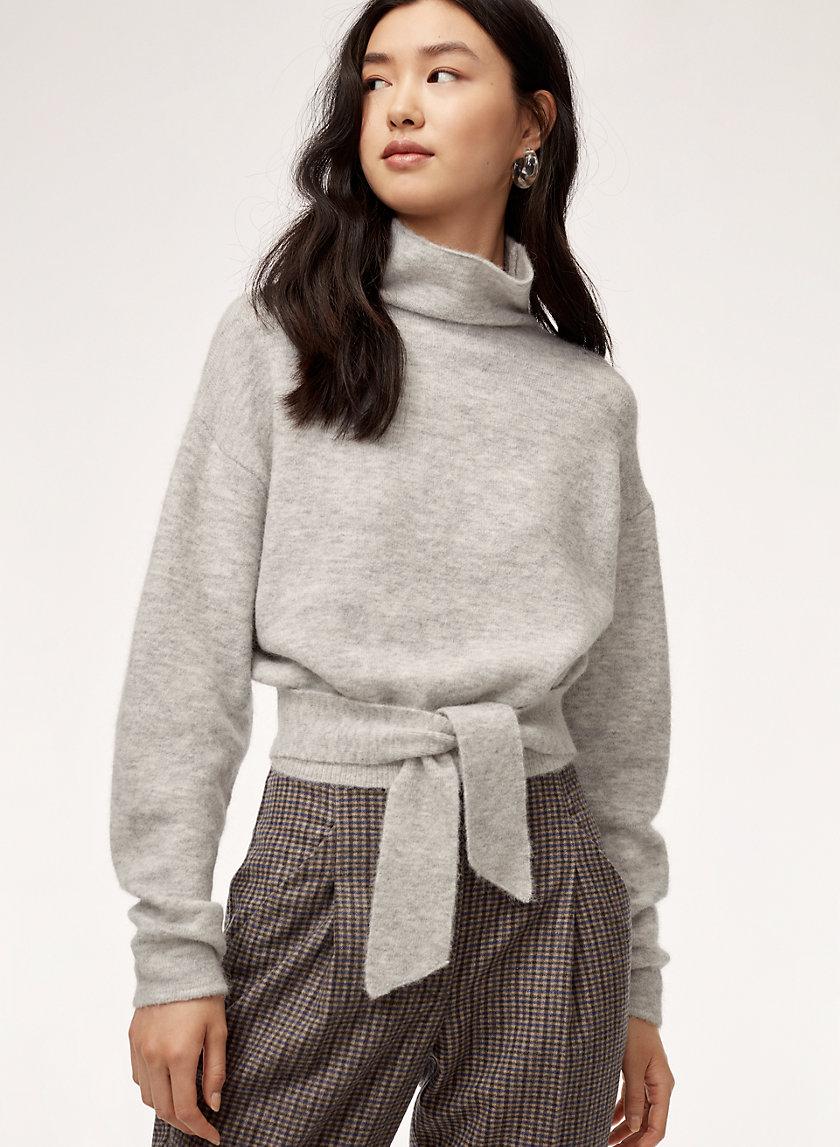 LORIN SWEATER - Cropped turtleneck sweater