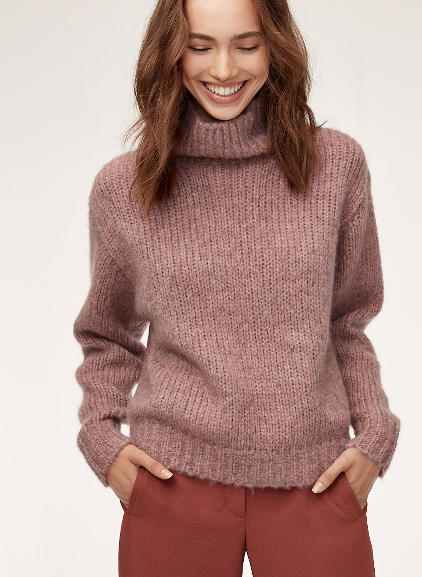MONTPELLIER SWEATER - Alpaca-blend turtleneck sweater