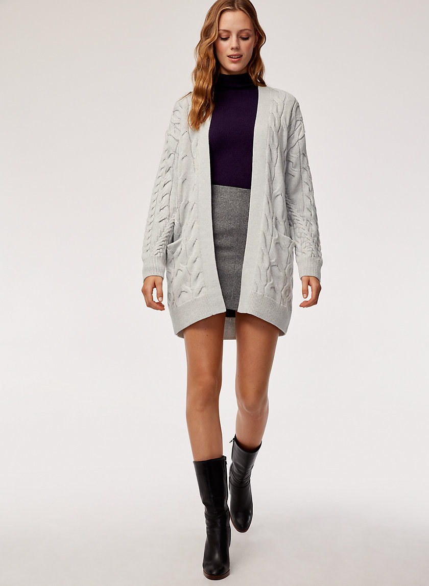 CHARLISA CARDIGAN - Cable-knit, merino-wool cardigan