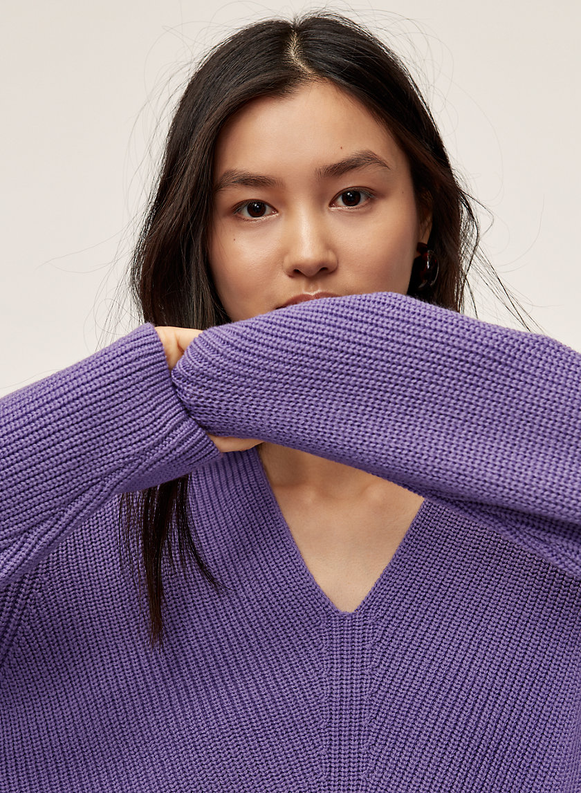 BURRELL SWEATER - Merino-wool V-neck sweater