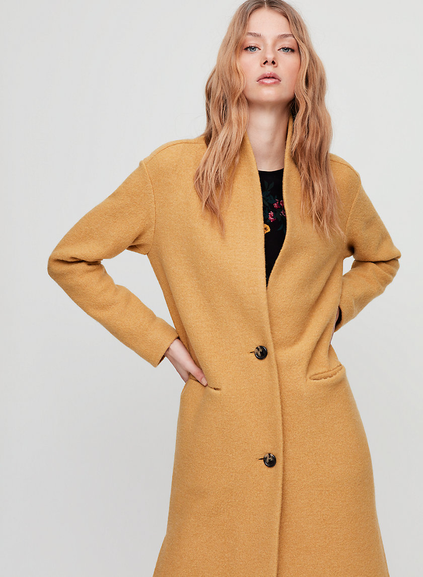 DUJARDIN JACKET - Long, merino-wool cardigan jacket