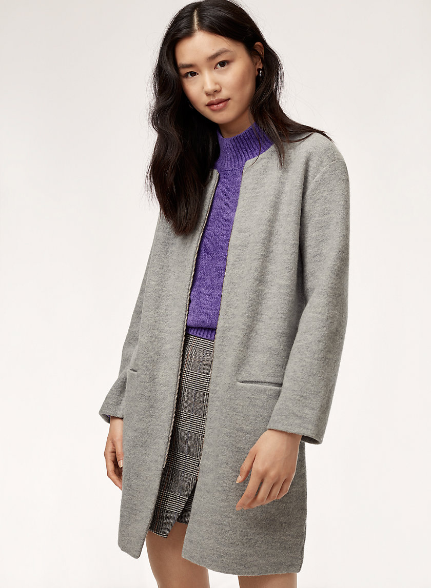BANVILLE JACKET - Merino wool, zip-up cardigan jacket