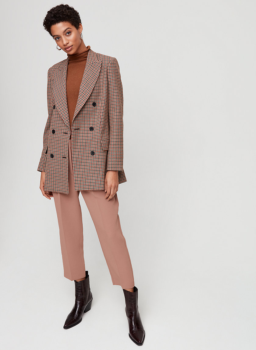 MARGAUX BLAZER - Double-breasted checked blazer