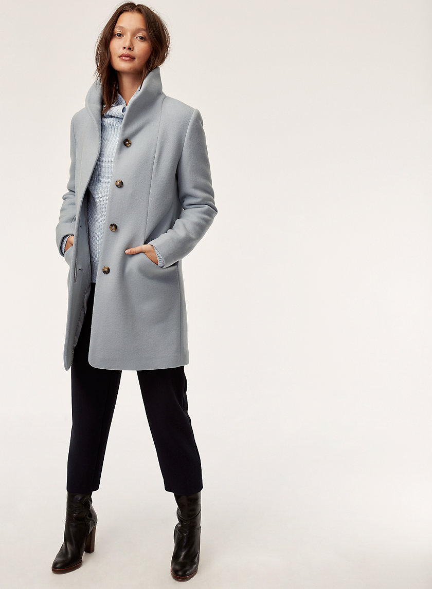 COCOON COAT - Virgin-wool and cashmere coat