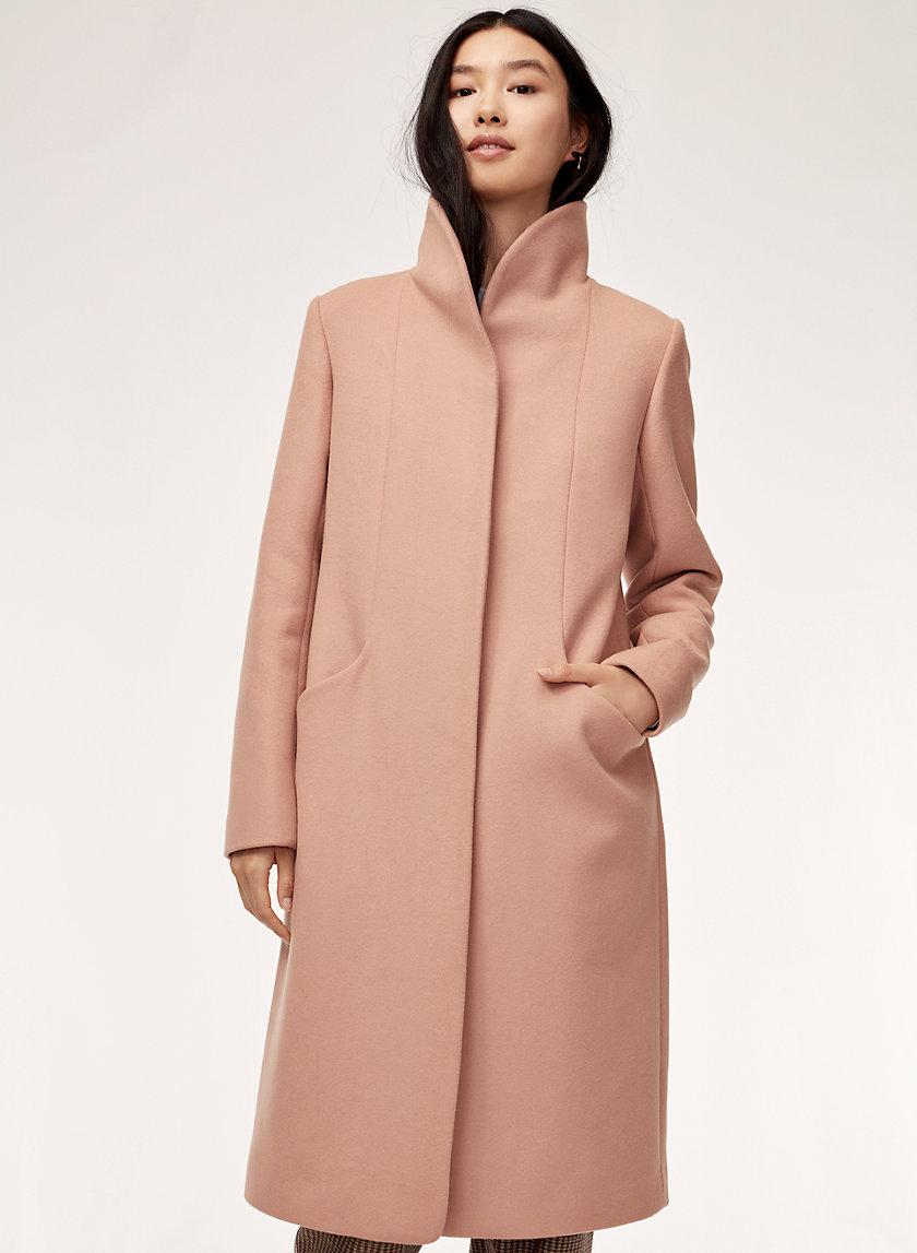 COCOON WOOL COAT LONG - Wool-cashmere blend coat