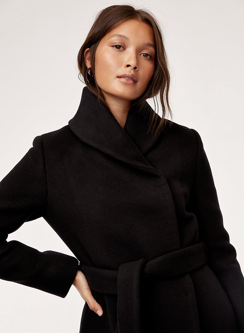 CLERMONT WOOL COAT - Belted, wrap coat