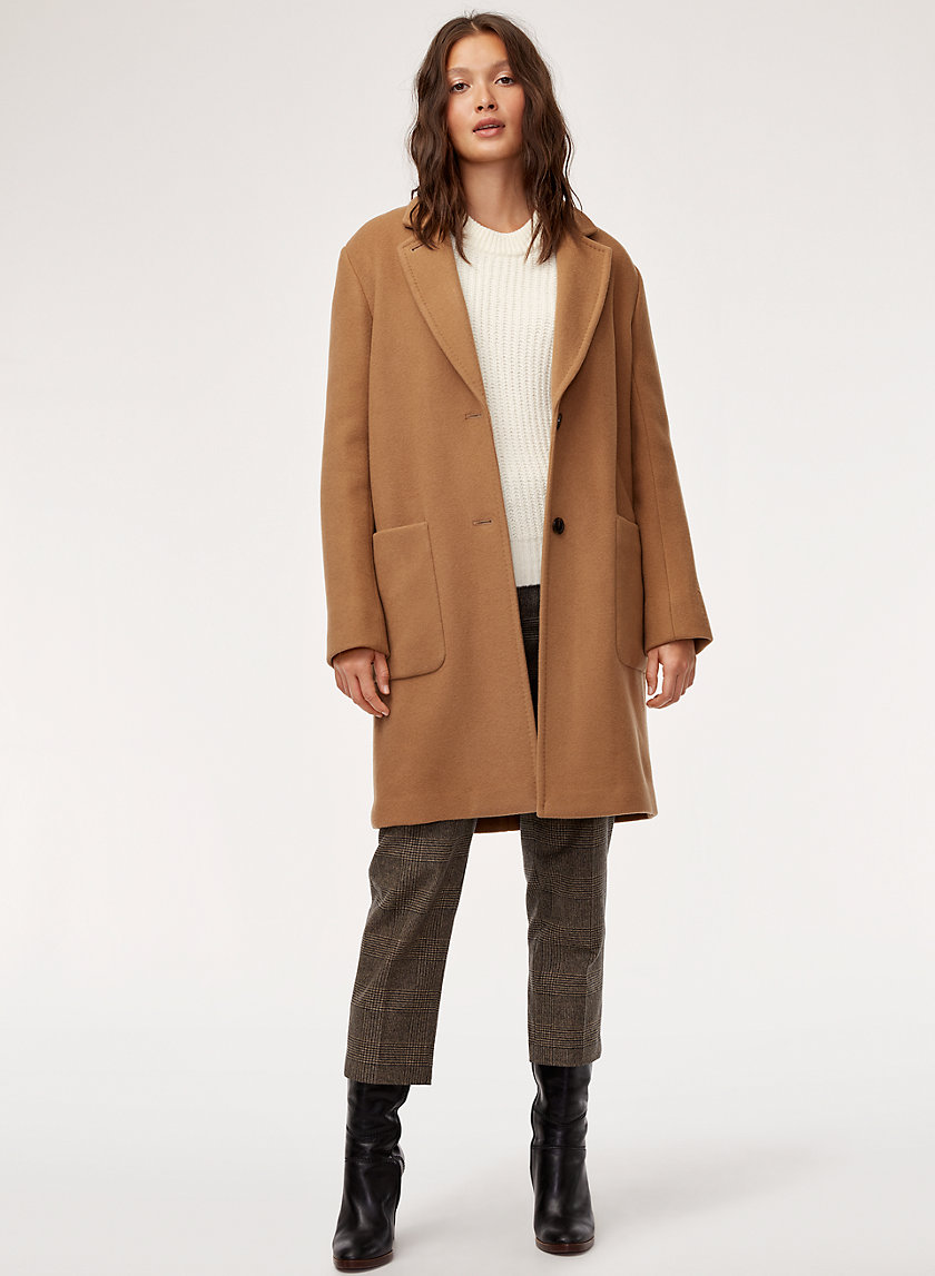 JARED WOOL COAT - Mid-length, wool-blend coat