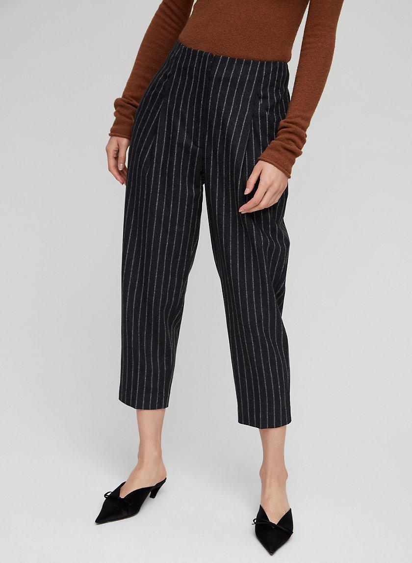 CHAMBERY PANT - Cropped, wool-blend dress pant