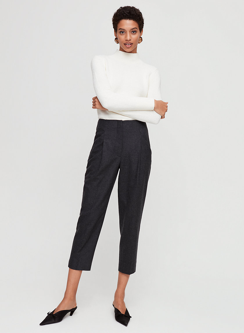 CHAMBERY PANT - Cropped, pleated plaid pants