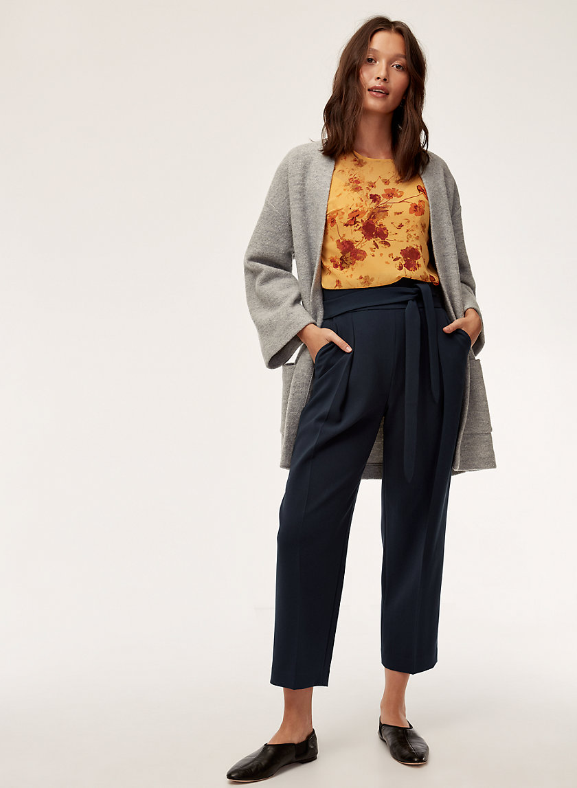 FEUILLE PANT - Cropped, high-waisted pant