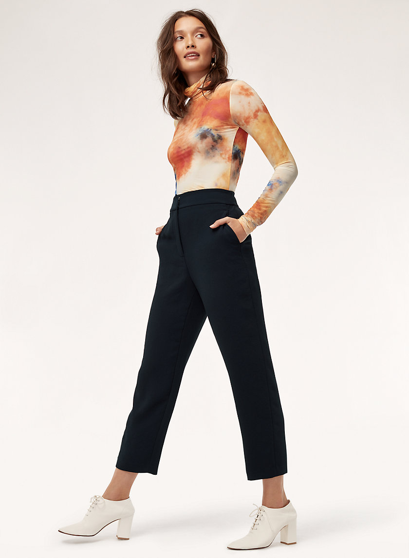 JANELLE PANT - Cropped, high-waisted dress pant