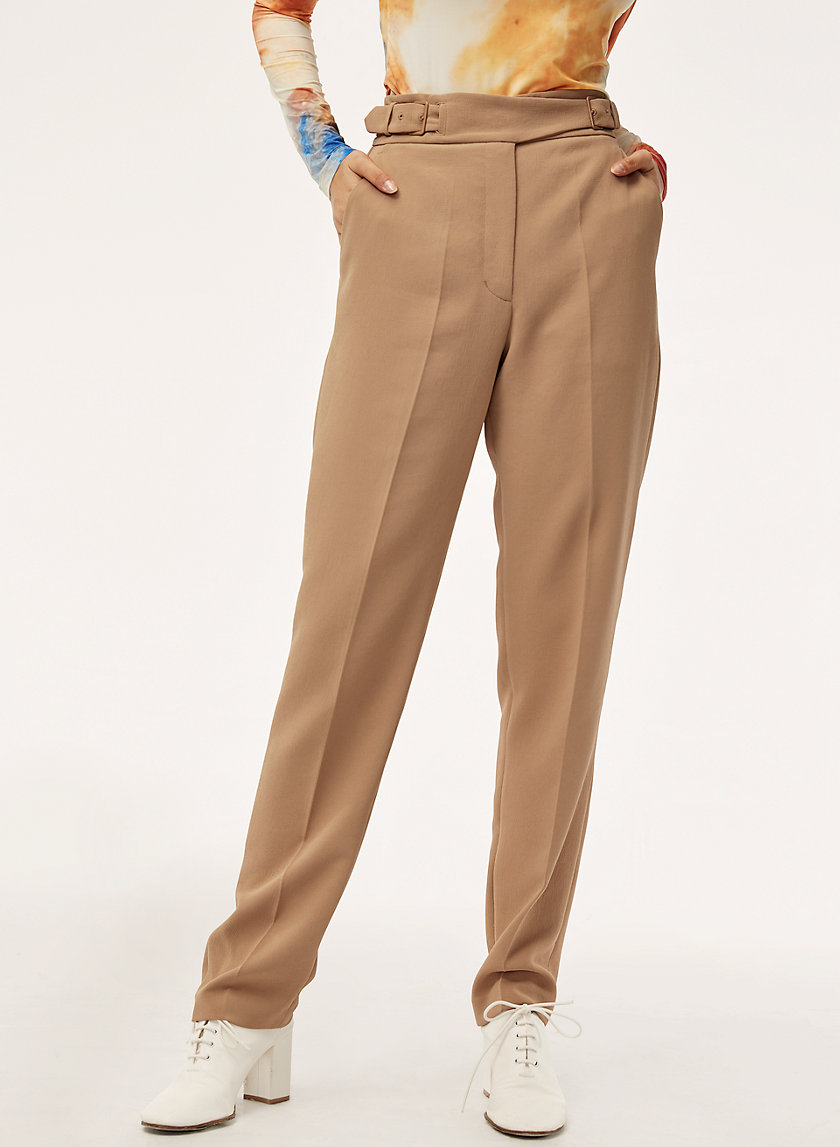 ANNA PANT - Machine washable, belted trouser