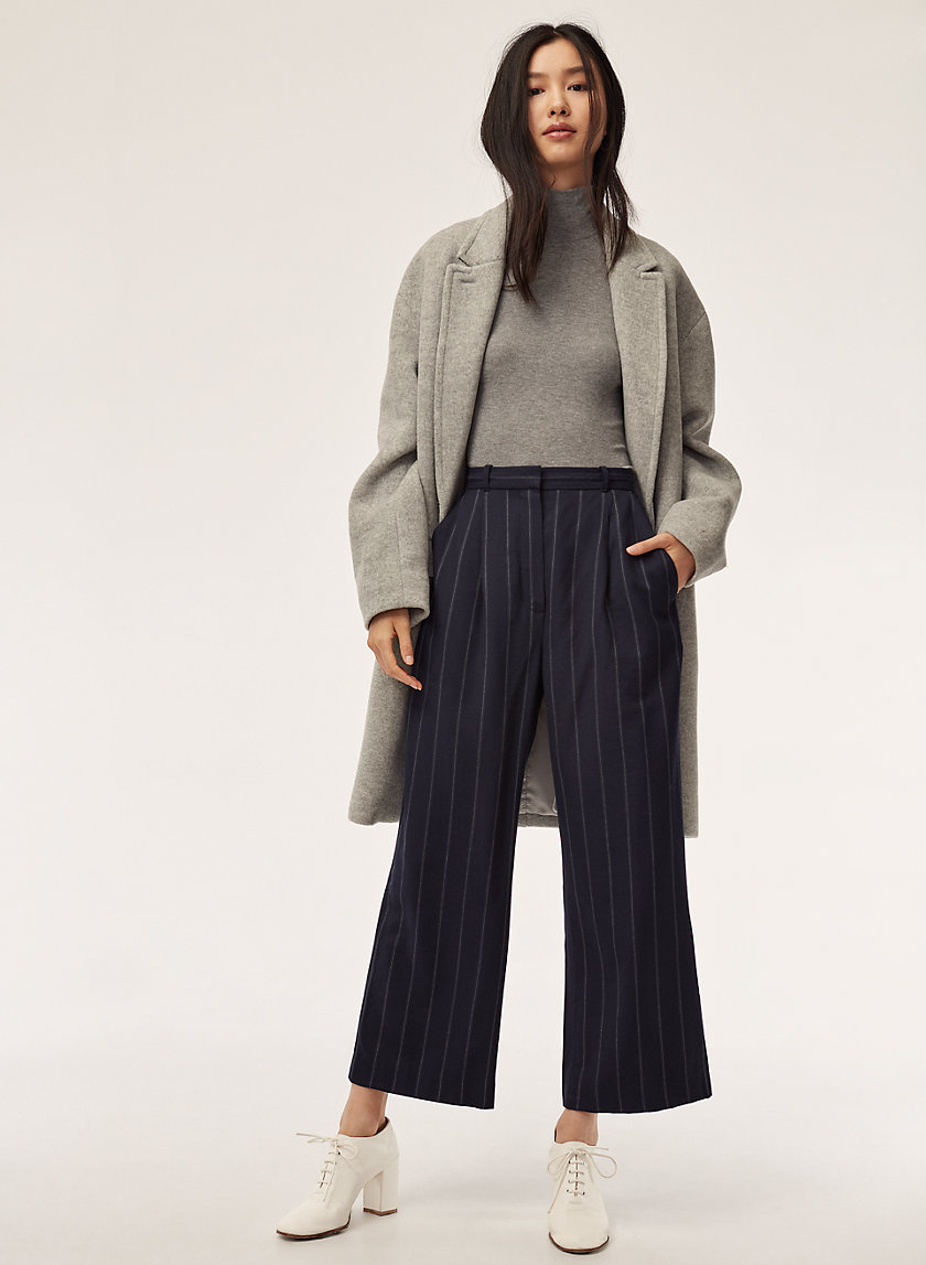 AUREL PANT - Cropped, high-waisted pleated pant