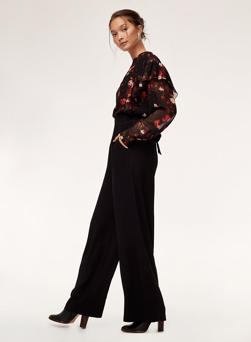 FAUN PANT LONG - High-waisted, wide-leg pant