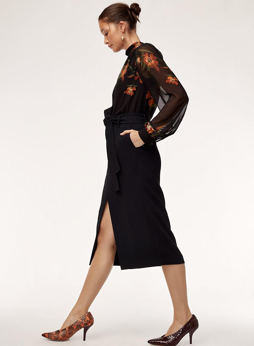 JALLADE SKIRT - High waisted, belted pencil skirt