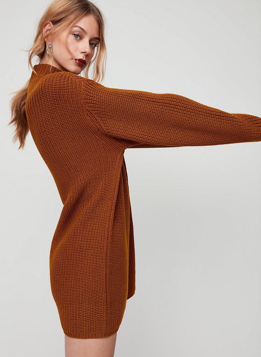 MONTPELLIER DRESS - Oversized, turtleneck sweater dress