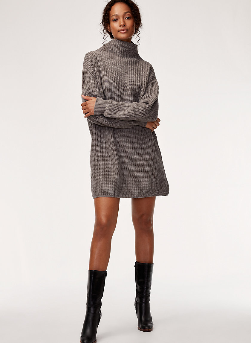 MONTPELLIER DRESS - Oversized, turtleneck sweater dress