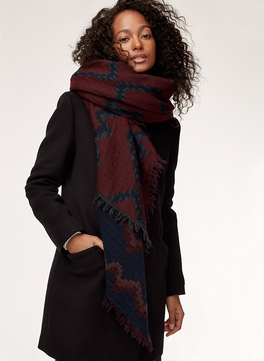 Wilfred DIAMOND MOSAIC BLANKET | Aritzia