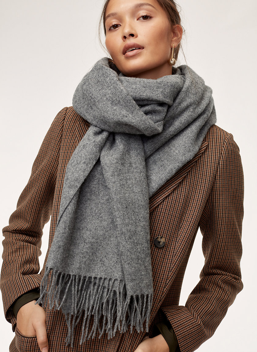THE CLASSIC WOOL SCARF - Wide rectangle scarf