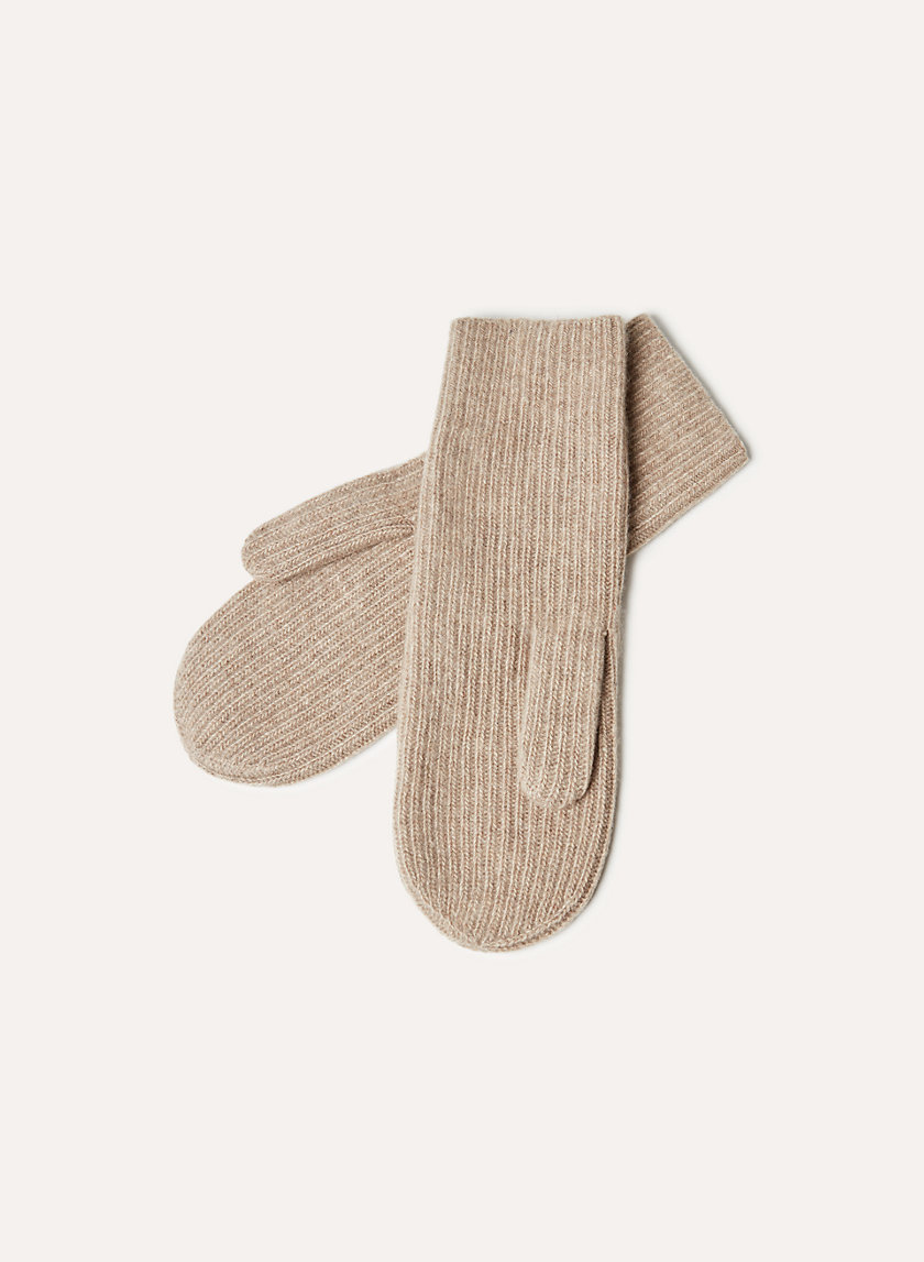 Auxiliary CASHMERE RIBBED MITTEN | Aritzia