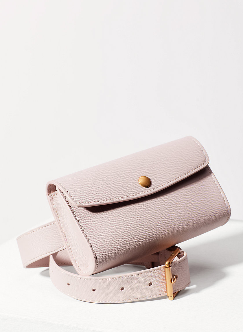 Auxiliary LEATHER SNAP BELT BAG | Aritzia