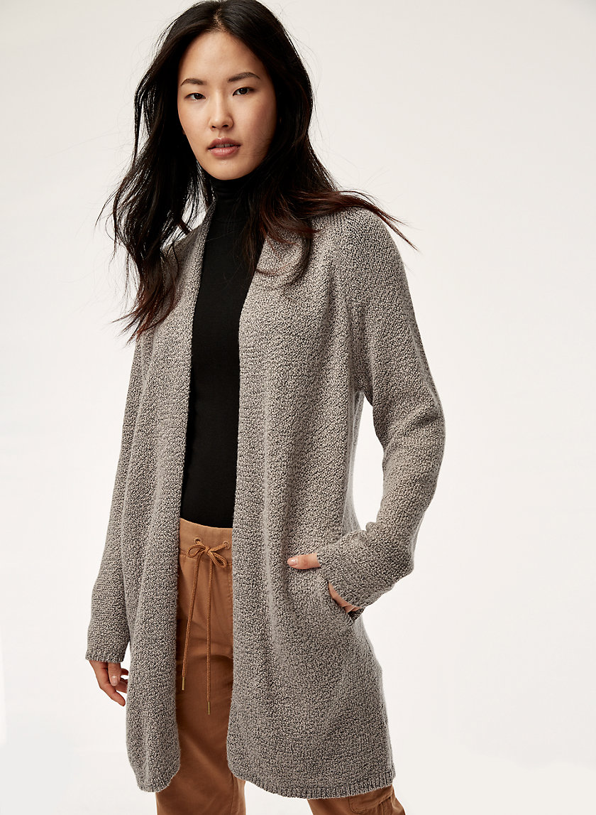VETUS SWEATER - Open-front, knit cardigan