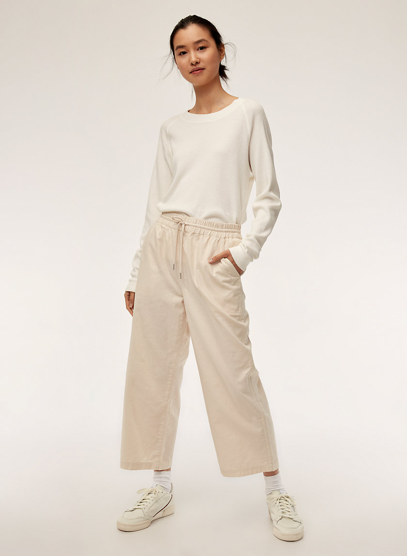 Community WIDE LEG CROP PANT | Aritzia