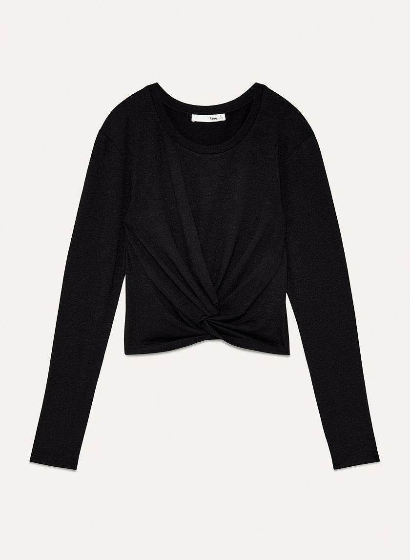 ORTIZ T-SHIRT - Long-sleeve, front knot t-shirt