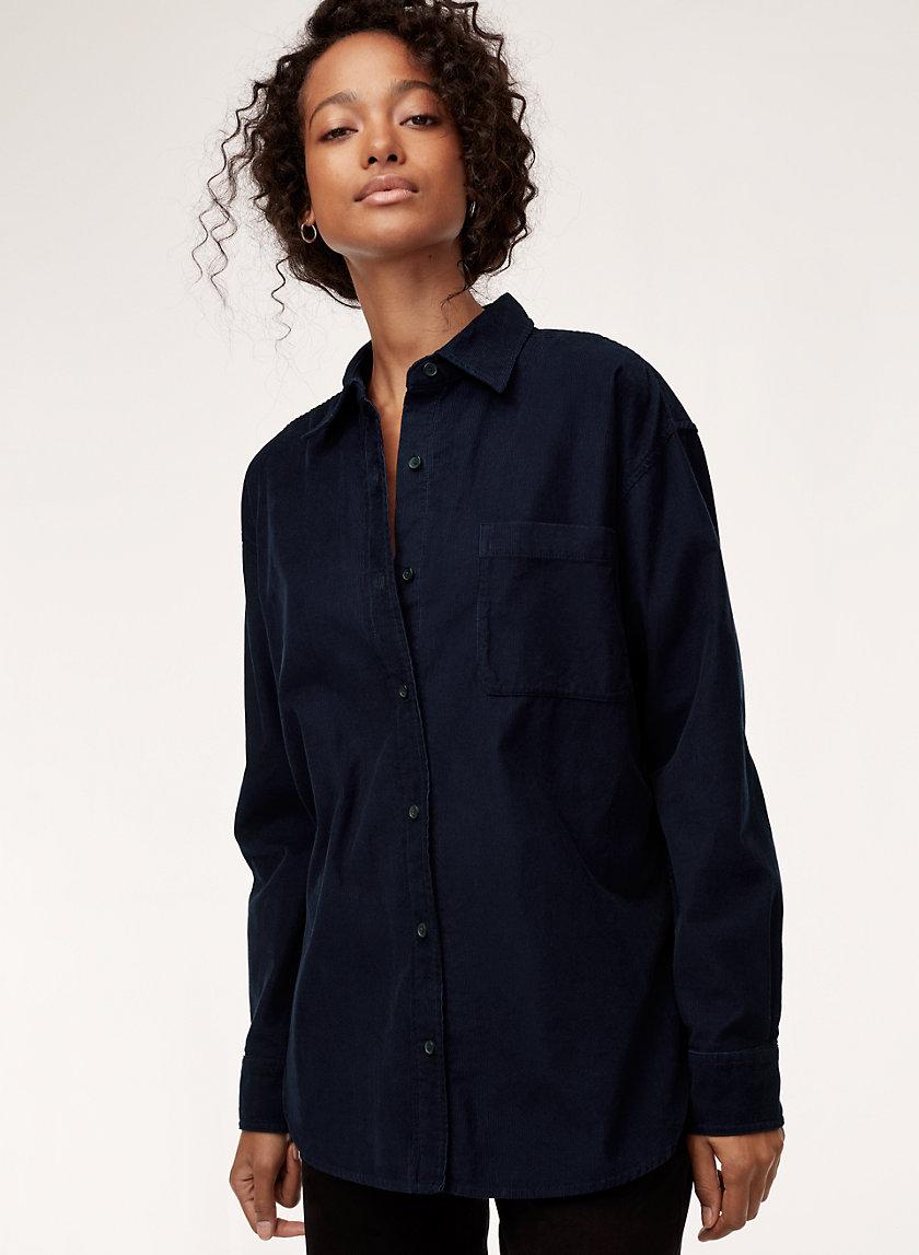 CHARLOTTE SHIRT - Button-down, micro-cord shirt