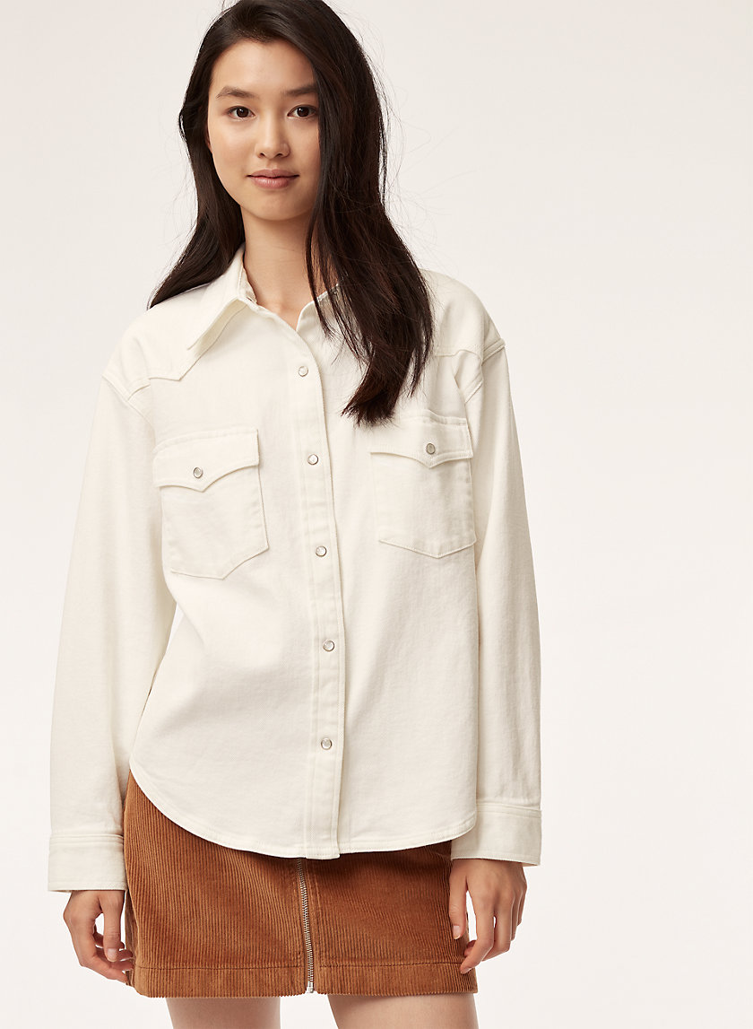 DOWLING SHIRT - Oversized cotton twill shirt
