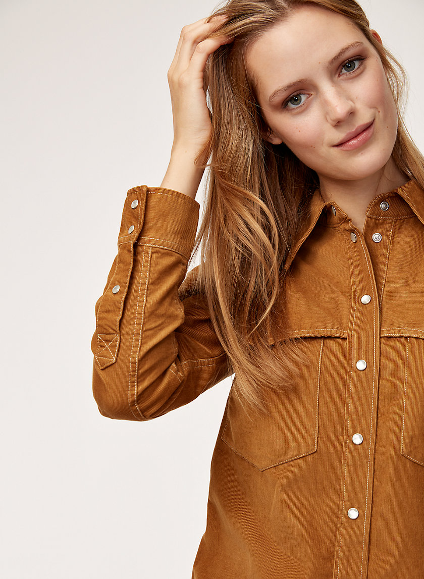 KAILA BLOUSE - Button-down corduroy shirt
