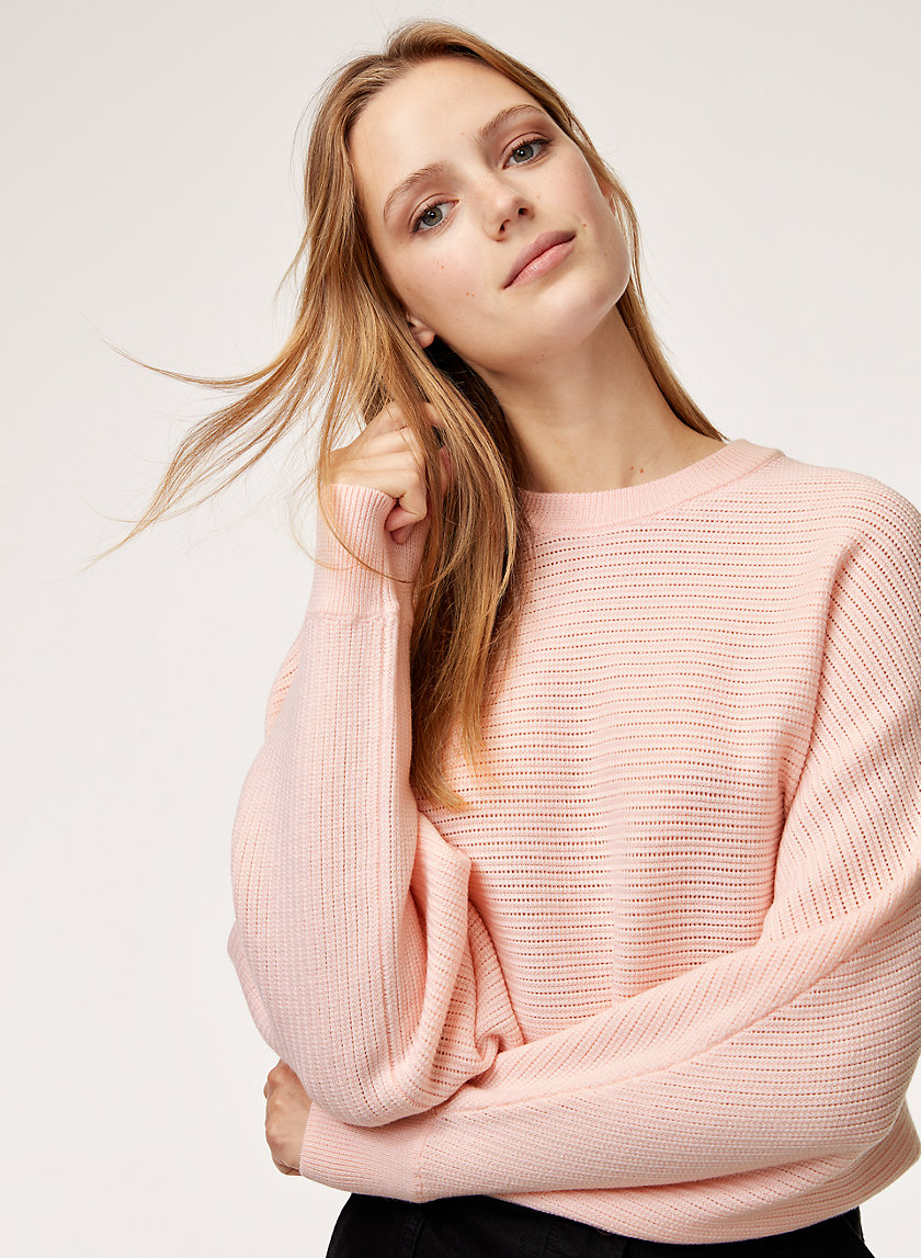 LOLAN SWEATER - Cropped, oversized, merino-wool sweater