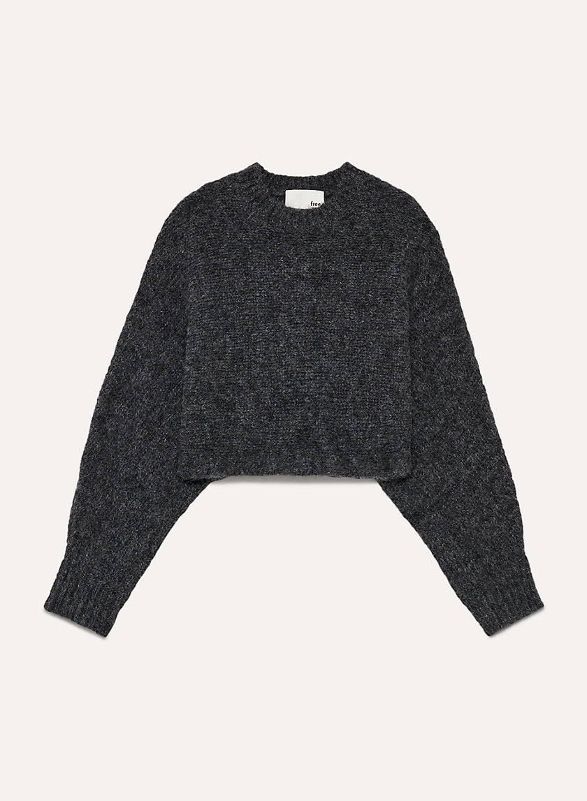 LOLAN SWEATER - Cropped, oversized, alpaca-blend sweater