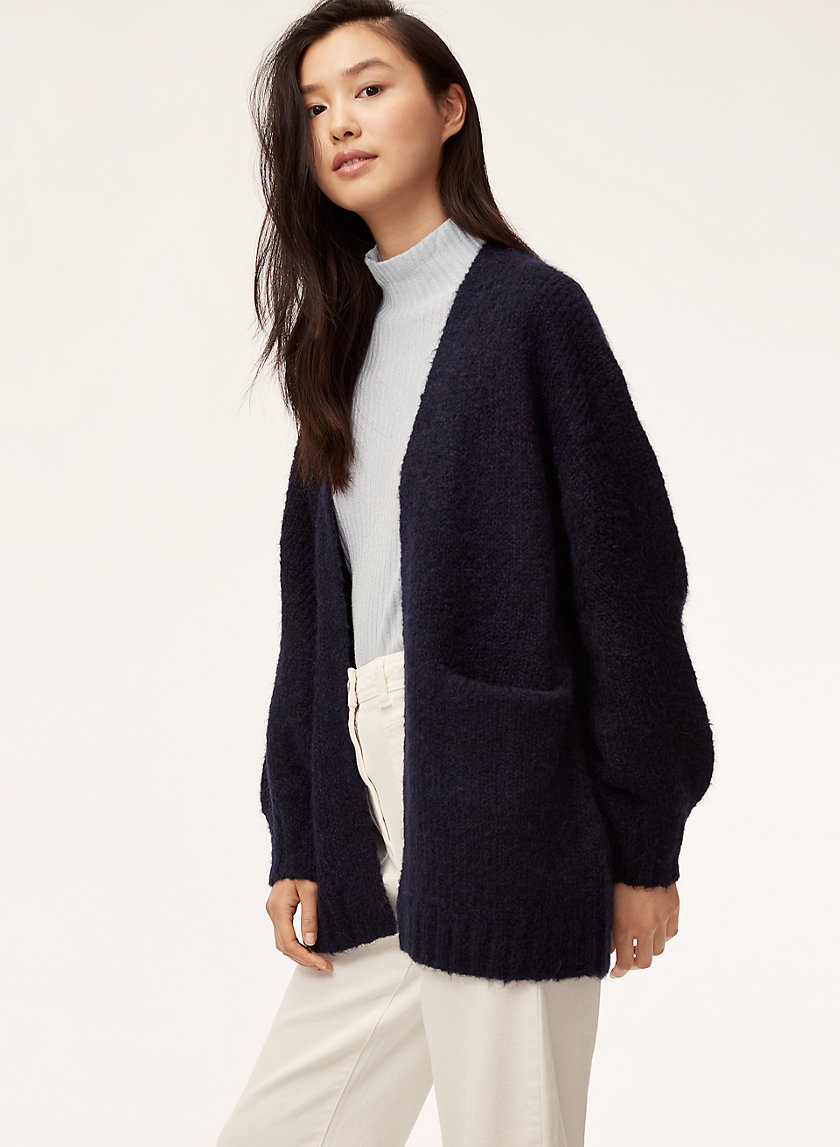 ROURKE SWEATER - Oversized, open-front cardigan