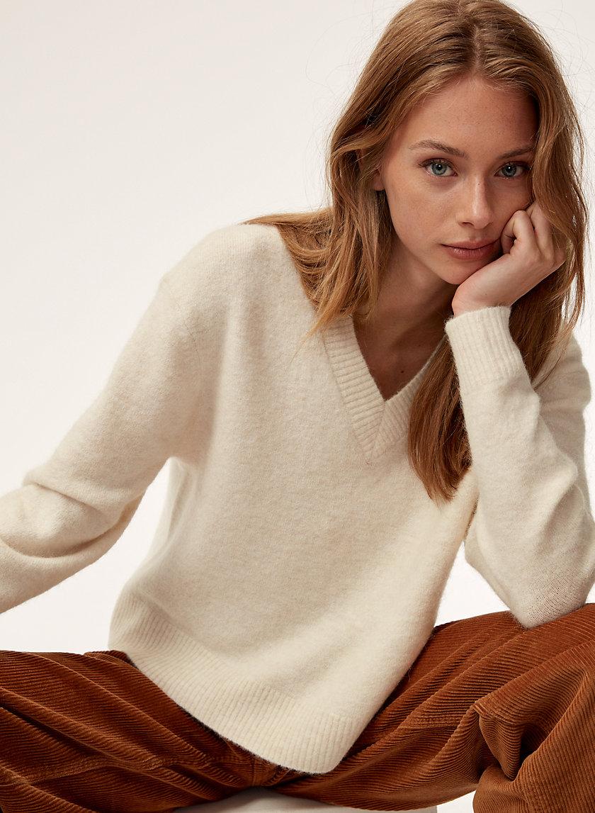 KRAUSE SWEATER - Alpaca-blend V-neck sweater