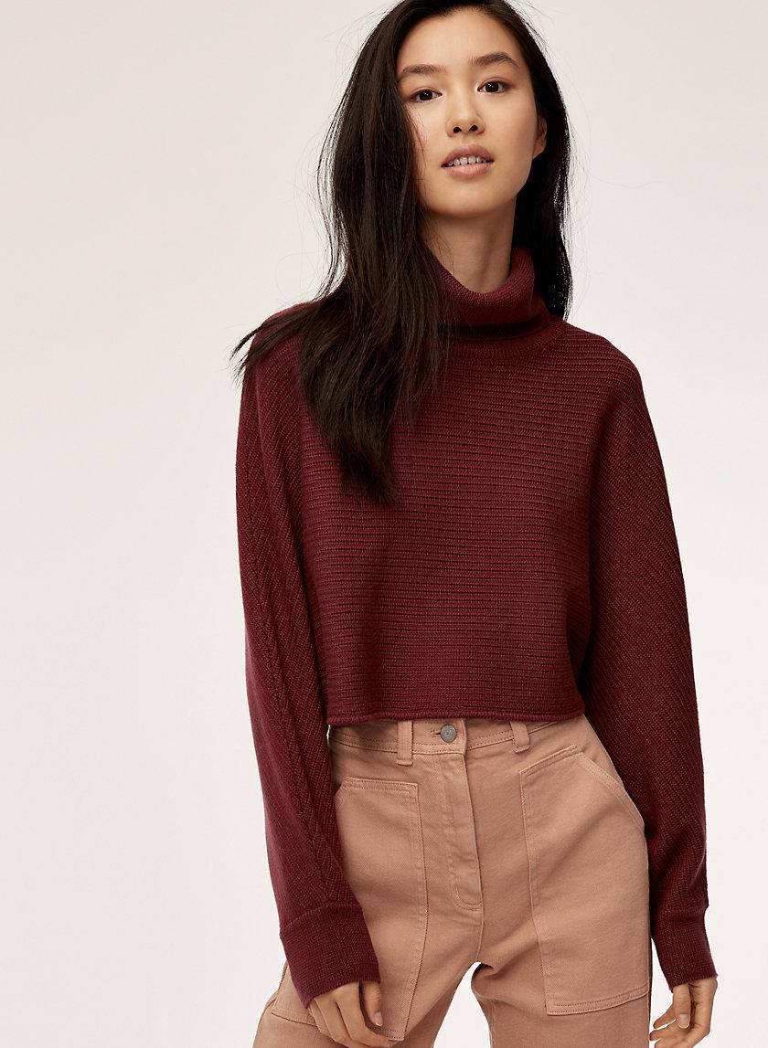 NAOMI SWEATER - Cropped, oversized turtleneck sweater