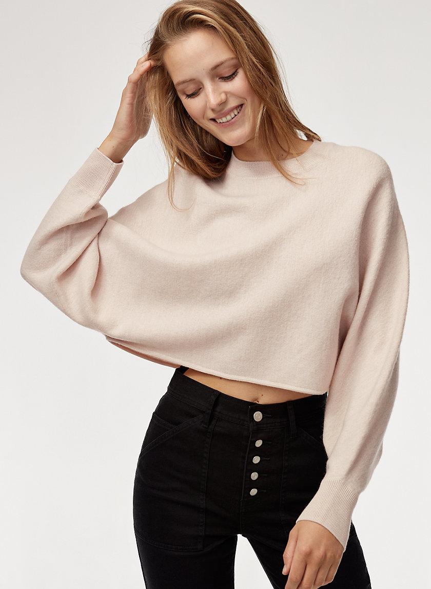 LOLAN SWEATER - Cropped, merino-wool sweater